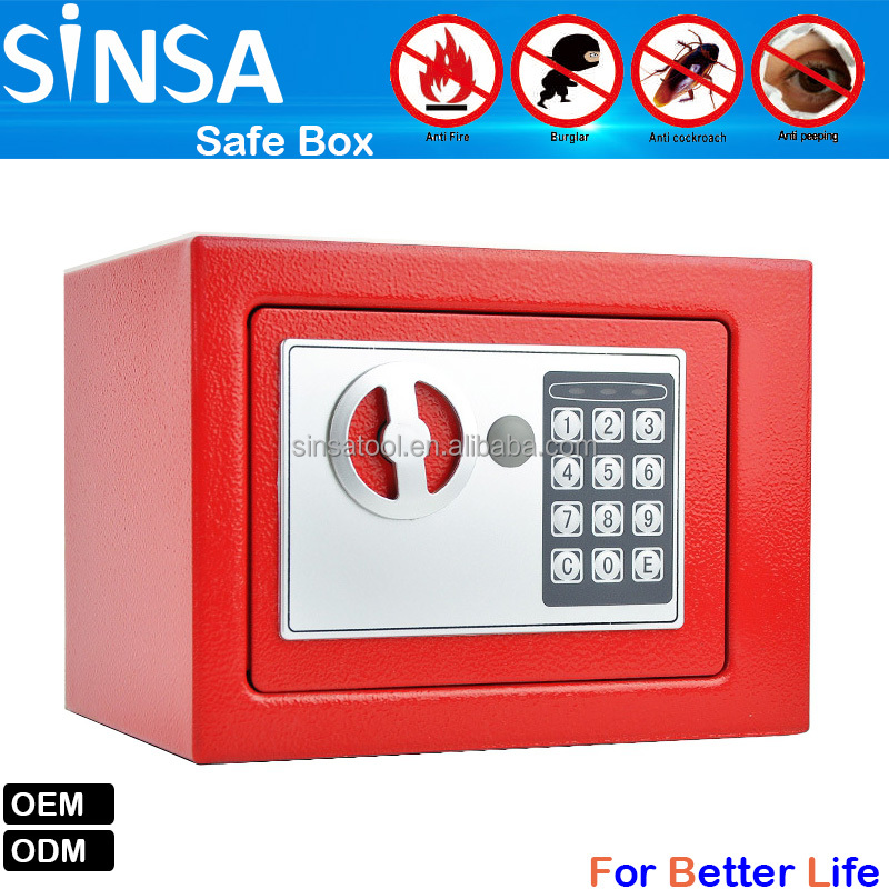 Home and hotel digital electronic mini size safe box SFB107