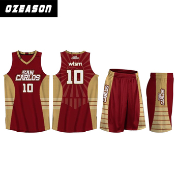 ea42e46f7 Free Design Color Maroon Basketball Jersey
