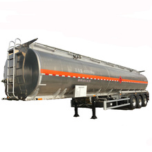 aluminium 40m3 oil tanker semi trailer