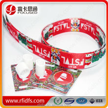 Low cost !!! fabric rfid wristband for event and festival and concert and so on