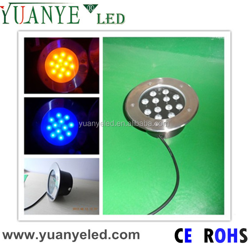 12w ip67 color change led deck lighting