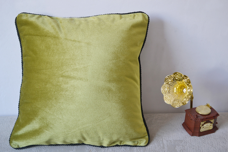 Home sofa decor plain style velvet cushion cover