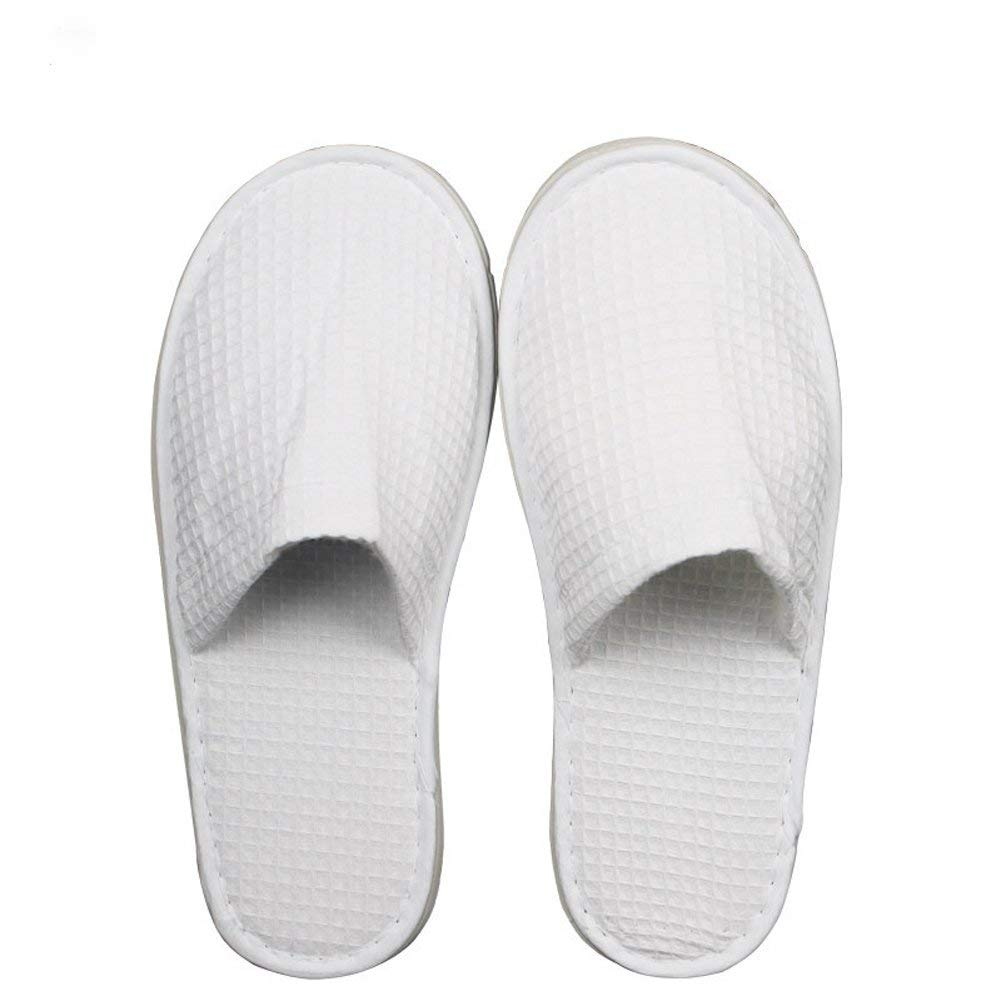 Hotel Disposable Slipper Closed Toe Waffle Spa Slipper,12Pair per case White