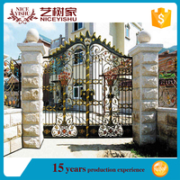 metal sliding gate design/Good elasticity iron gate cheap price wholesale from China iron casting supplier