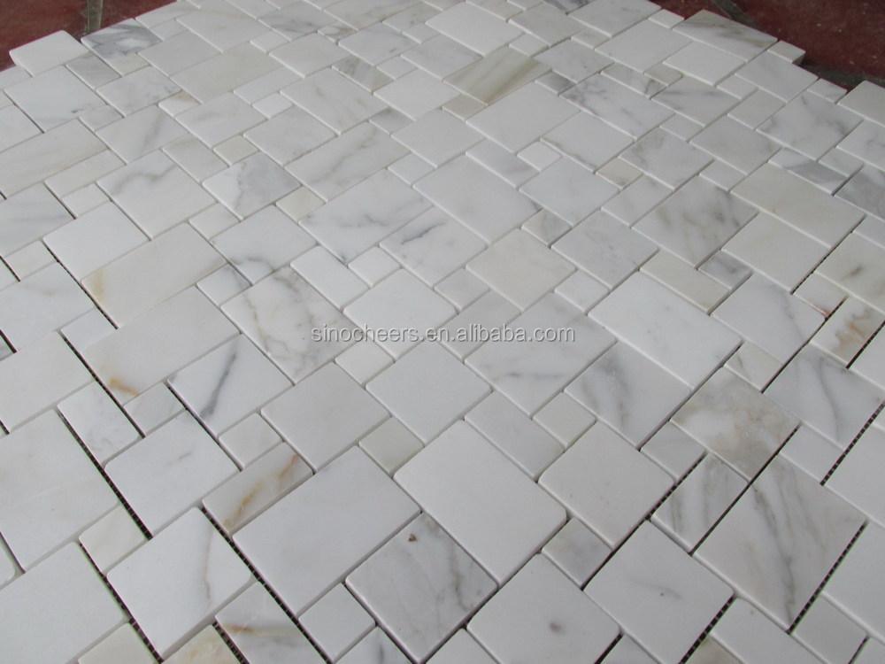 Calacatta oro hexagonal azulejos del ba o mosaicos - Azulejos hexagonales bano ...