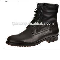 Cheap military split leather for autumn and winter men's ankle boots