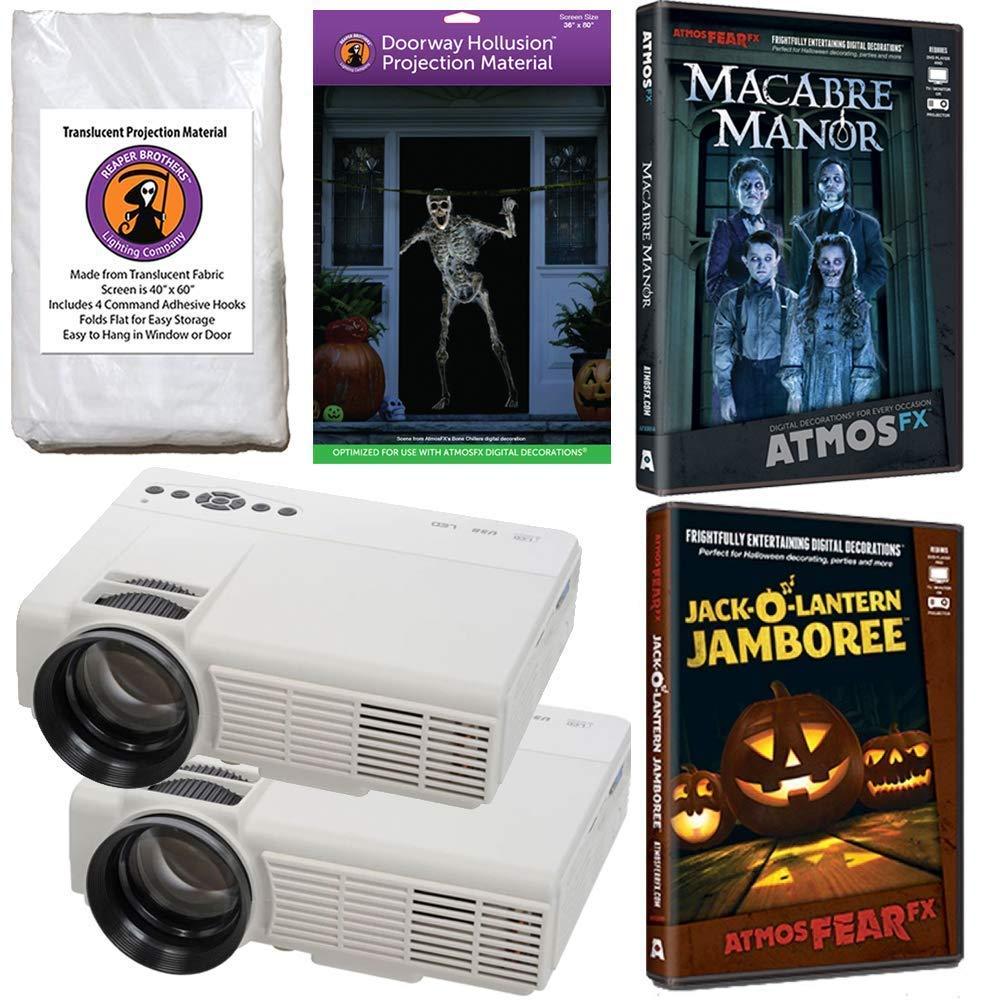f2f7f6b65930b6 Get Quotations · AtmosFearFx Halloween Digital Decoration Kit Includes:  (Qty 2) Projectors + (1)
