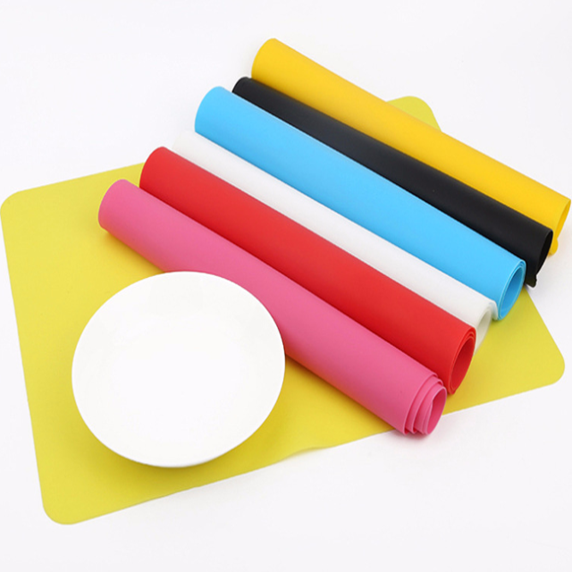 Colored Food grade kids foldable silicone food placemat silicone baking mat silicone table place mat