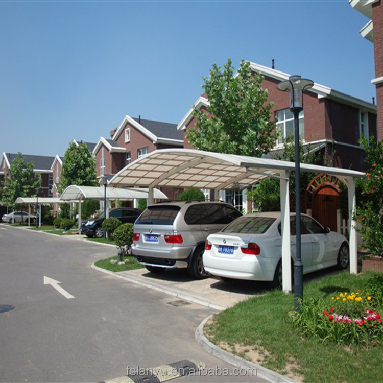 Modern Portable Polycarbonate Sheet aluminum flat roof carport