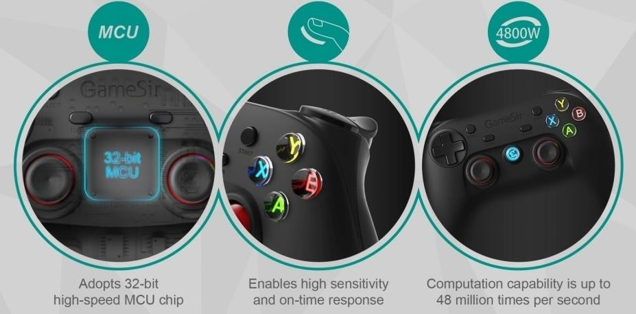 G3s 2.4G wireless Bluetooth gamepad for Android/PC/Windows