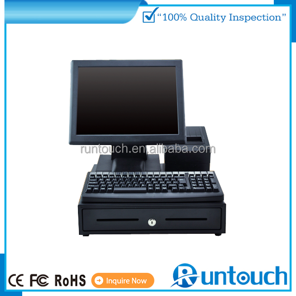 Runtouch EcoPOS Touch Screen POS System EPOS TILL Cash Register Shenzhen 15 inch all in one touch terminal