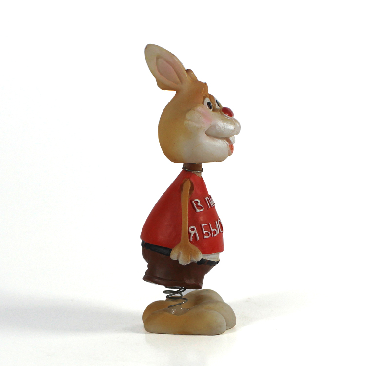 Easter rabbit bobble head animal customized bobble head dolls car decor