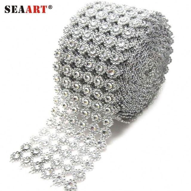 3Mm Rhinestone Crystal Mesh Fabric Sheet Used For Clothing fa3f5156708d