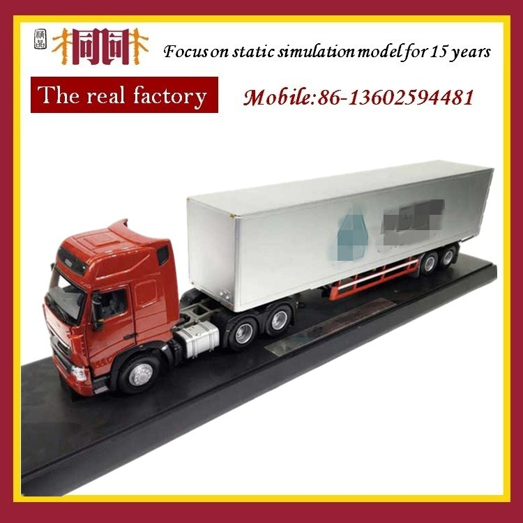 Scale cargo shipping container car toy van truck models china factory