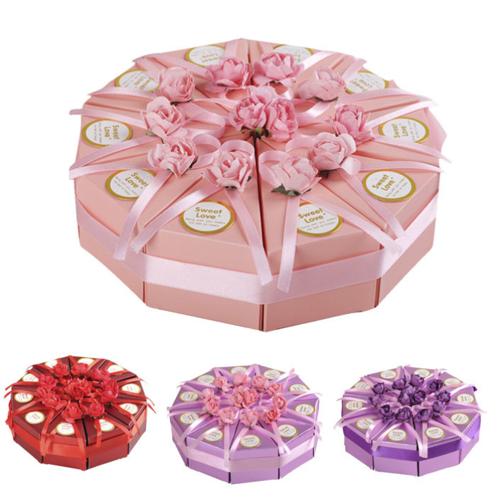 Get Quotations Splendid Purple Pink European Creative Candy Box Wedding Cake Paper 4 Colors Sweet Gift