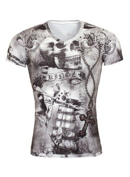 Men Cool Tattoo Print T Shirts Wholesale - Buy Tattoo Tee Shirts ...