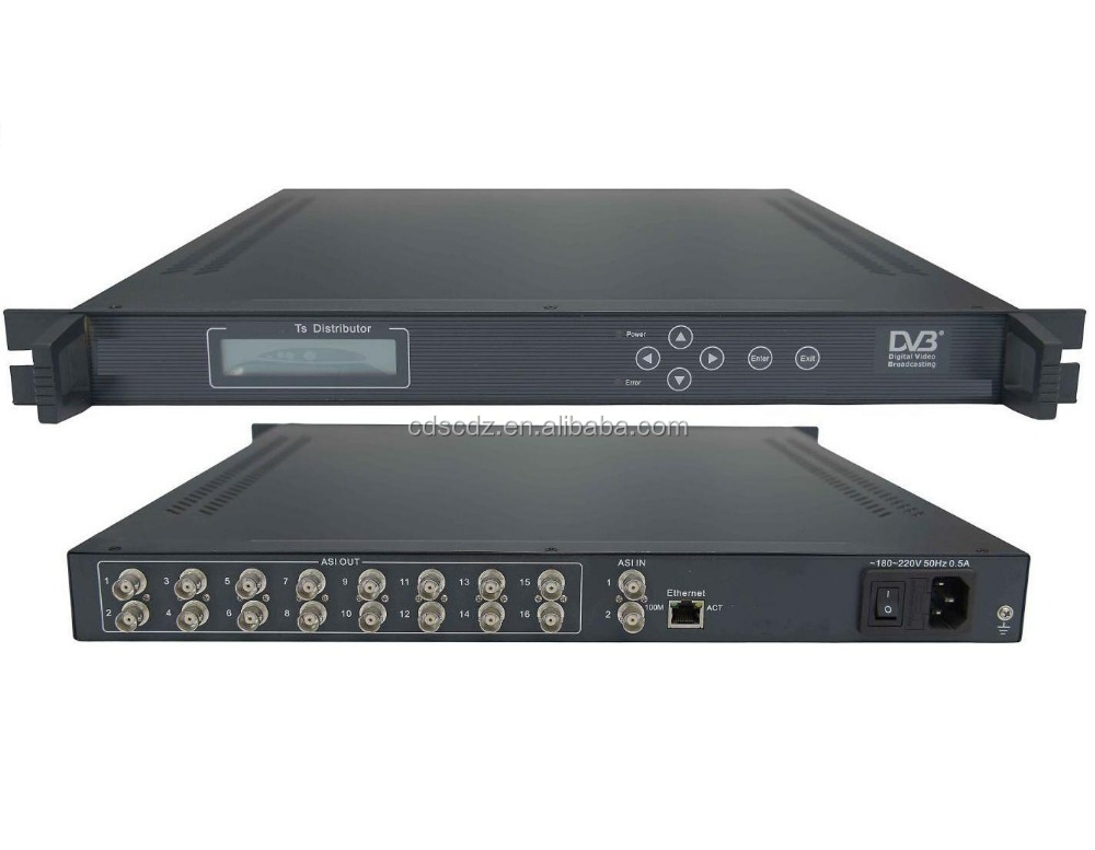 DVB BNC TS Distributor (ASI IN,16 ASI out)