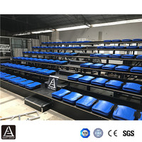 Indoor event gym bleachers telescopic grandstand tribun retractable folding stadium bleacher seats chairs for sale