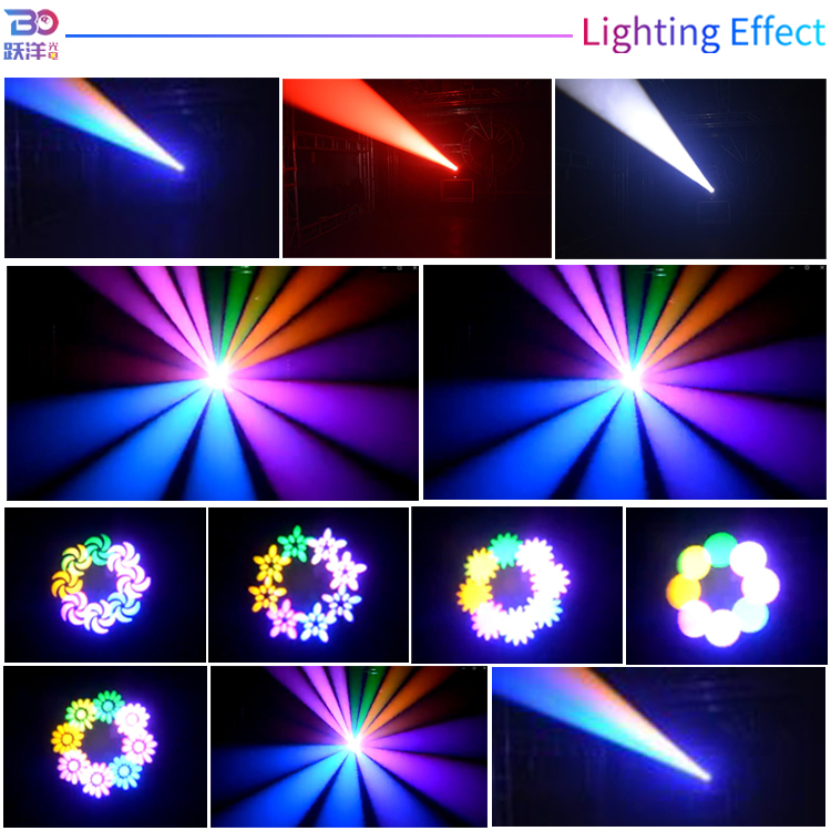 guangzhou supplier led stage light80w/200wled sharplywash beam moving head gobo light+pattern rainbow effect for gob projectors