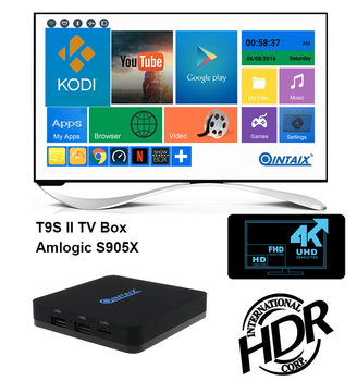 2016 Qintex Cheapest Android TV Box Amlogic S905X 4K HDR Kodi 16.1 Android 6.0 Marshmallow Android Box