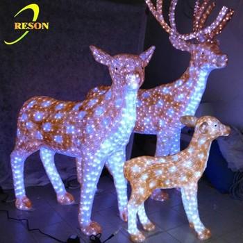 Outdoor christmas 3d crystal deer figures buy 3d crystal deer outdoor christmas 3d crystal deer figures mozeypictures Images
