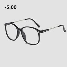 Винтажные круглые прозрачные женские близорукие корректирующие очки при близорукости-1,0-1,5-2,0-2,5-3,0-3,5-4,0-5,0-5,5-6,0--(Китай)