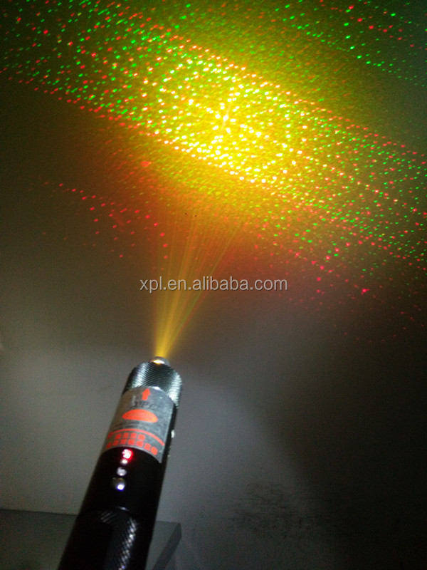 XPL-RG300 multi-pattern multi color green red yellow and golden 300mw laser pointer