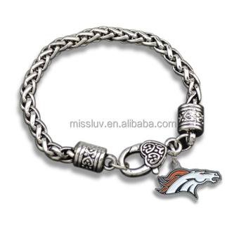 Football Fans Bracelet Denver Broncos Jewelry Rugby Souvenir