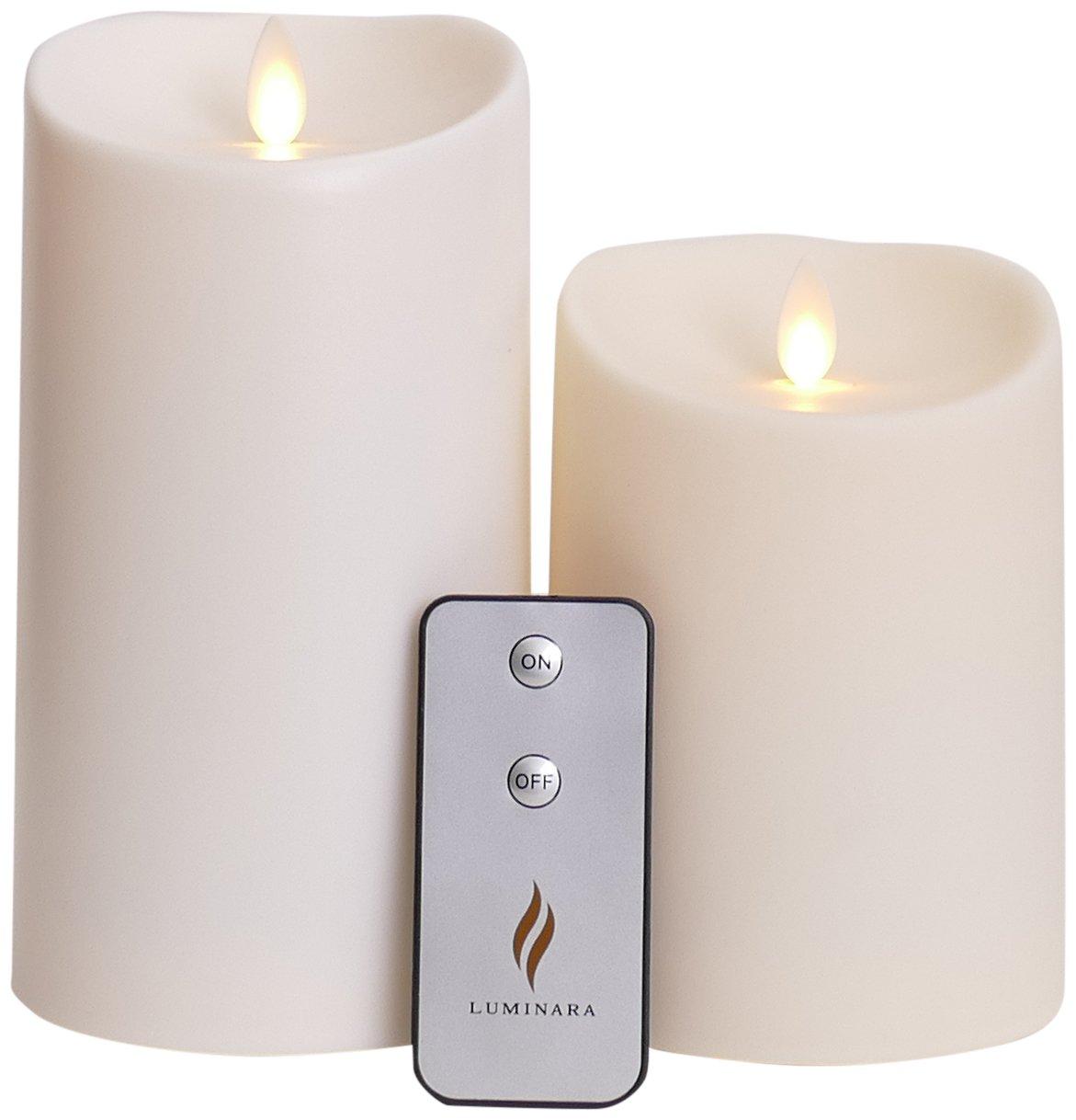 Get Quotations · Set Of 2 Luminara Outdoor Flameless Candles: 3.75x5 3.75x7  Outdoor Flameless Candles With