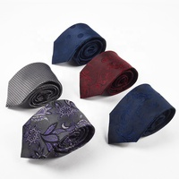 Men fashion luxury spot business 8cm 100% silk neck tie for wedding