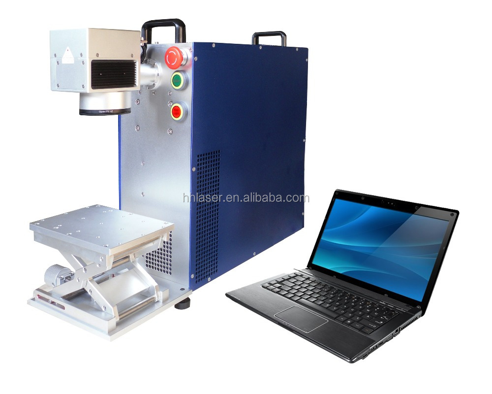 20w 30w Laser Print on Metal fiber laser printer for metal