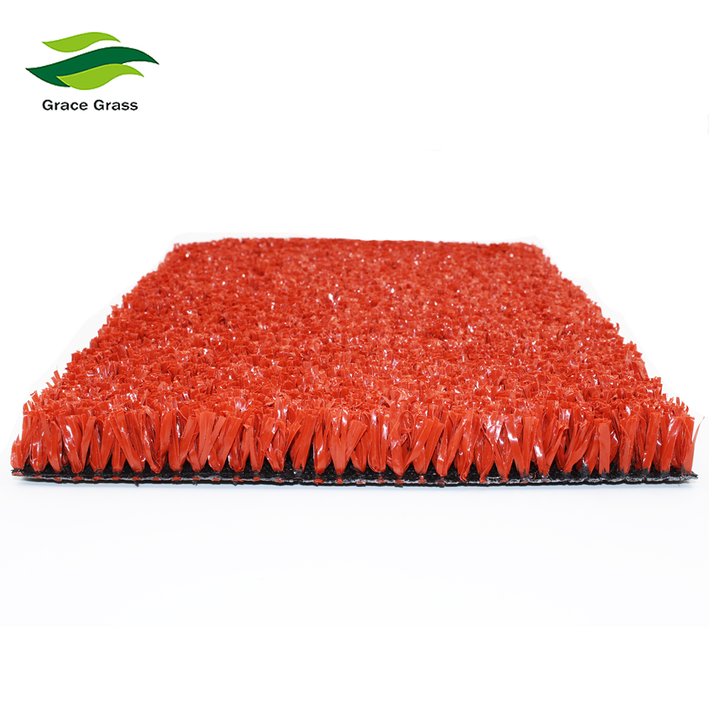 Red Artificial Fake Lawn Turf For Sports Ground