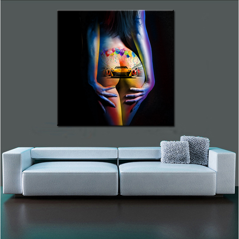Canvas Prints Picture Living Room Decoration Wall Painting Nude Woman  Abstract Arts - Buy Wal Painting Pictures,Canvas Printed Prints,Abstract  Canvas