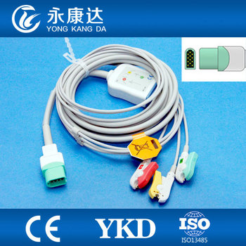 Datascope Passport V 5 lead ecg clip cable,medical TPU with CE&ISO13485certified proved