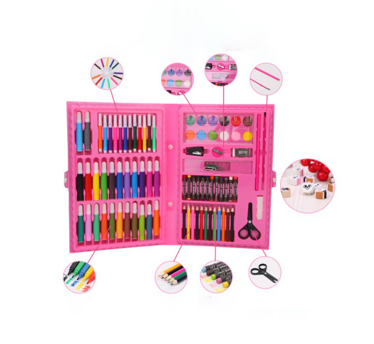 Art Sets Have An Inquiring Mind 168pcs Drawing Pen Art Set Kit Painting Sketching Color Pencils Crayon Oil Pastel Water Color Glue With Case For Children Kids