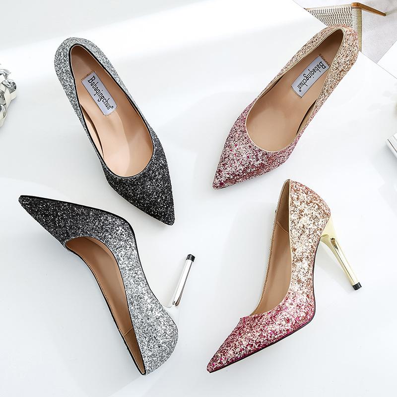 Hot sale high heel High dinner shoes women wedding fashion ZH718B quality 1ftxEwtq