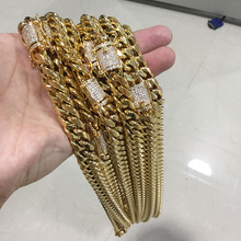 Miss Jewelry 14k gold hip hop jewelry 10mm cuban link chains wholesale price mens gold chains