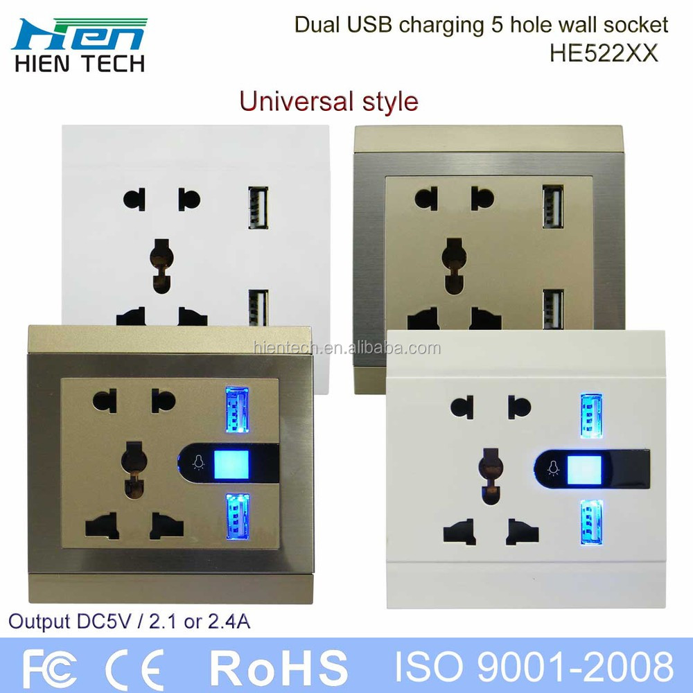Flush Mount Socket Usb Wall Socket Outlet Provide Mounting