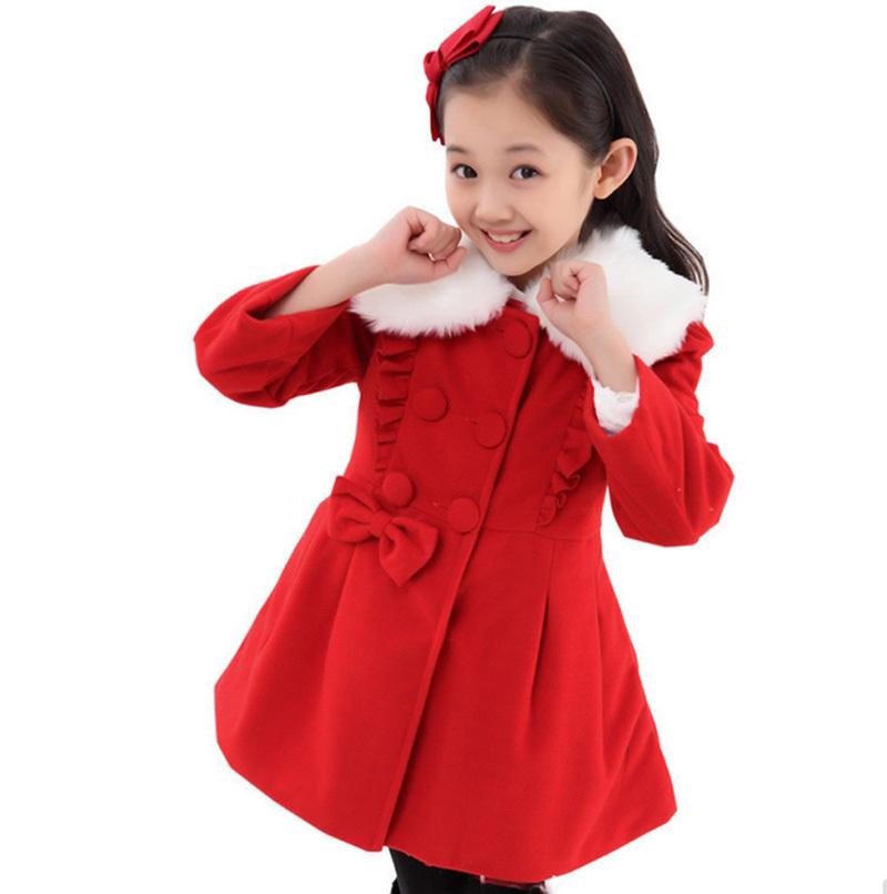 8f22cd1dddf2 Buy 2015 New Autumn Girls Winter Woool Coats Korea Style Girls Wool ...