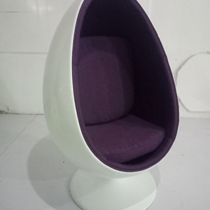 fashionable design fiberglass space Eye Ball cheap egg pod chair