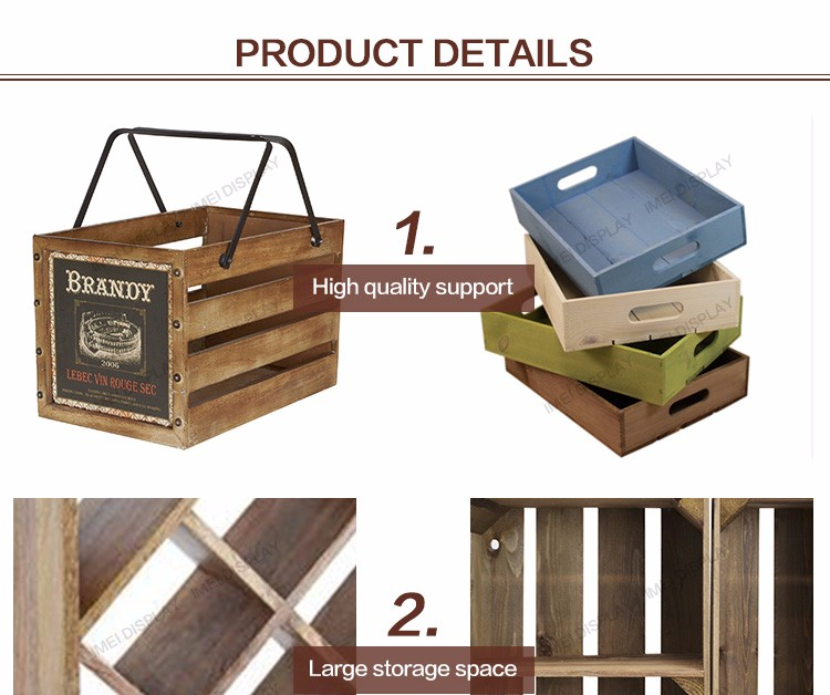 Fashion shallow mouth Firewood Vegetable Vintage Crate