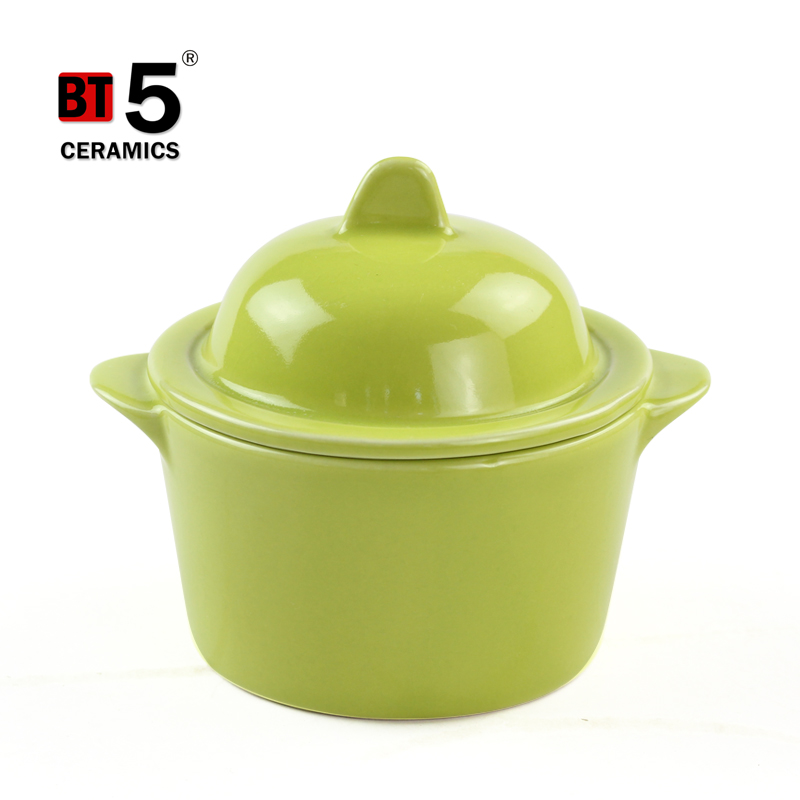 Green cookware sets kitchen ceramic with stone ware