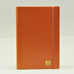 promotional logo plain brown paper a5 size leather notebook