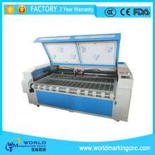 W-C1610 1600*1000mm Double head laser cutting machine auto feeding