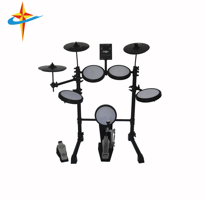 Hot Sales Learner Used Plastic Electronic Drum Kit, Black;green;white;yellow