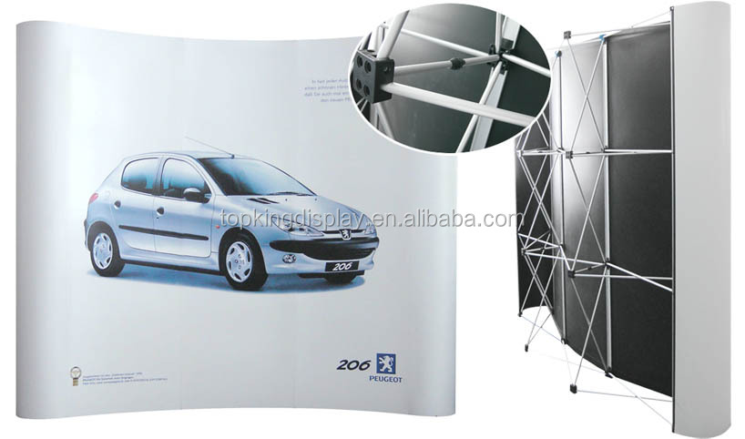 Aluminum trade show stand,pop up display,backdrop wall display