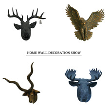 Cheap Wall Sculpture Life Size Animal Head Deer Custom Character Resin Statue