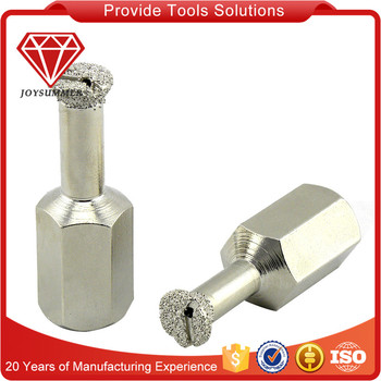 Vacuum brazed diamond anchor bits