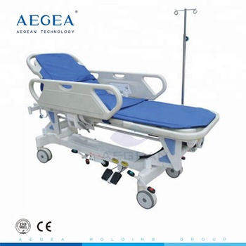 AG-HS009 more advanced hospital electric control pedal medical transfer stretcher