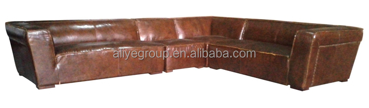 A5058- modern design L-shaped living room antique chaise lounge leather sofa sectional sofa